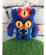 Disney Big Hero 6 Fred Blue Monster Plush Toy Hanging Ornament - $9.89