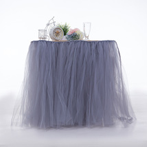 Any Color TABLE TUTU Skirt Rainbow Table Tulle Skirt Tutu Tulle Table Decoration image 5