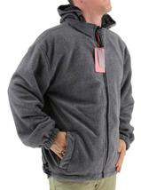 Lax Men's Water Resistant Removable Hood Security Reversible Jacket Black image 10