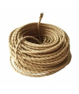 Vintage Electrical Wire Hemp Rope Woven Textile Wire Twisted Cable Braid... - $25.80+