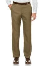 NEW PERRY ELLIS TRAVEL LUXE NON IRON COMFORT WAIST SHARKSKIN DRESS PANTS... - $24.74