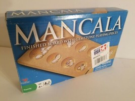 Cardinal Mancala Finished Board With Gemstone Playing Pieces Kids Ages 4... - $18.69