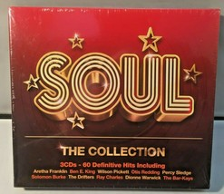 Soul The Collection 60 Definitive Hits Classic Soul Compilation Album 3 ... - $10.49