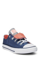 Converse Youth CTAS Double Tongue OX Shoes  NEW AUTHENTIC Navy 658112F - $29.99