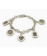 925 Silver - Vintage Geometric Pattern & Interwoven Detail Bracelet - B2766 - $63.24