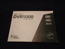 Go VIDEO DVR 5000 DVD Recorder / VCR Combo USER'S MANUAL - $14.99