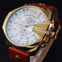 Men Curren Watch Wrist Quartz Analog Display Leather Fashion Luxury Sport Date - $29.55
