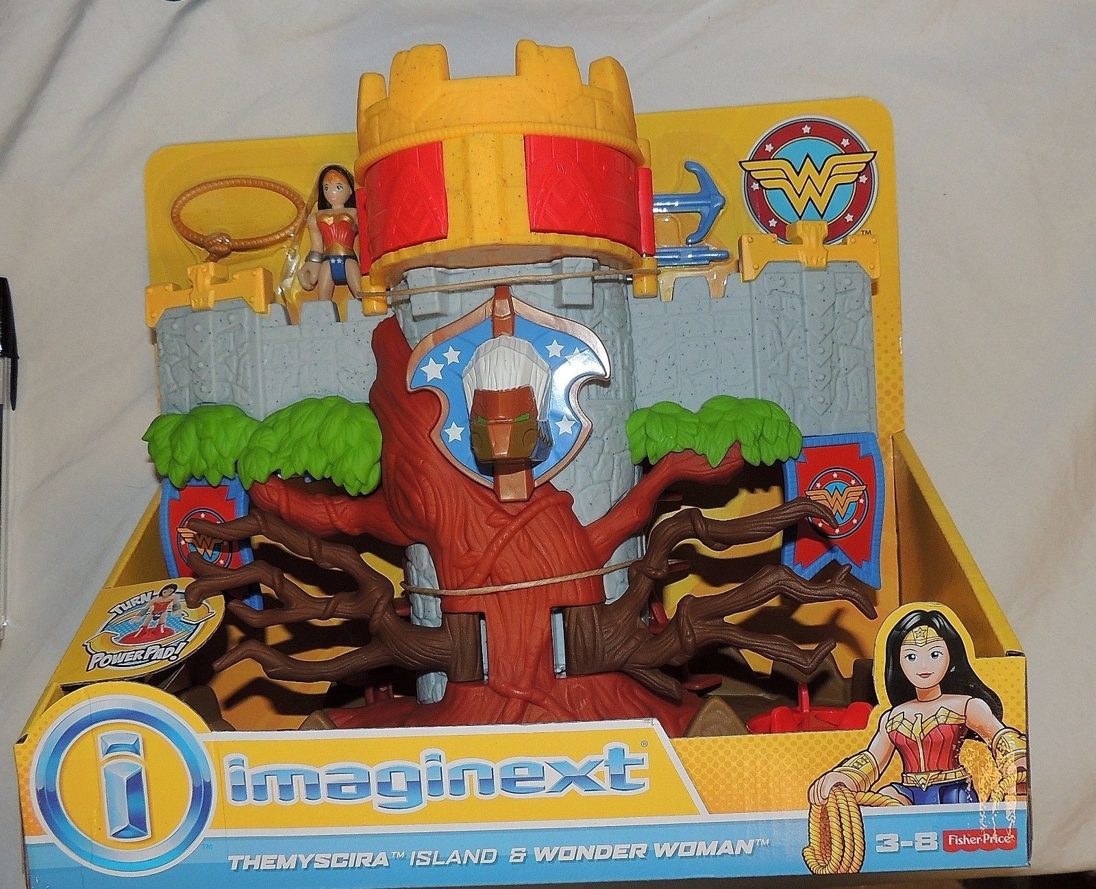 Nuovo Fisher Price Imaginext Wonder Woman Themyscira Island & Regina Hippolyta