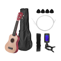 "Colored 21"" Ukulele Soprano Acoustic Ukulele Ukelele Kit Basswood Body w... - $60.97"