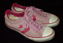 Vintage Converse Pink Suede Star Re Issue Athletic Shoes SIZE 8 Unisex S... - $14.84