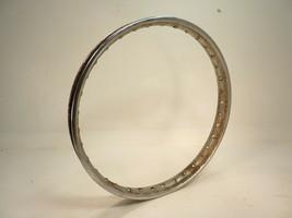 """1971 honda SL100 Front Chrome Wheel 19"""" X 1.40"""" / OEM Steel Rim Spoked Outer - $59.99"""
