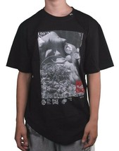 LRG Mens Black High End Scientific Weed Marijuana Growth Short-Sleeve T-Shirt NW