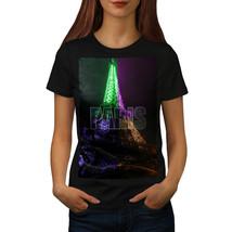 Paris Photo Night Fashion Shirt Night Colours Women T-shirt - $12.99
