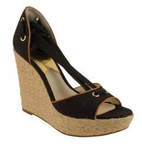 Michael Kors Women's Lilah Wedge Canvas Sandals Shoes - $89.99