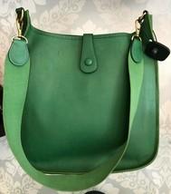 """HERMES Green Classic """"EVELYNE GM"""" Leather Tote/Shoulder Bag $$$$ image 2"""