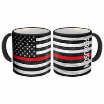 FERGUSON Family Name : American Flag Gift Mug Firefighter USA Thin Line - $13.37+