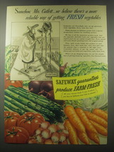 1941 Safeway Produce Ad - Somehow, Mrs. Catlett - $14.99