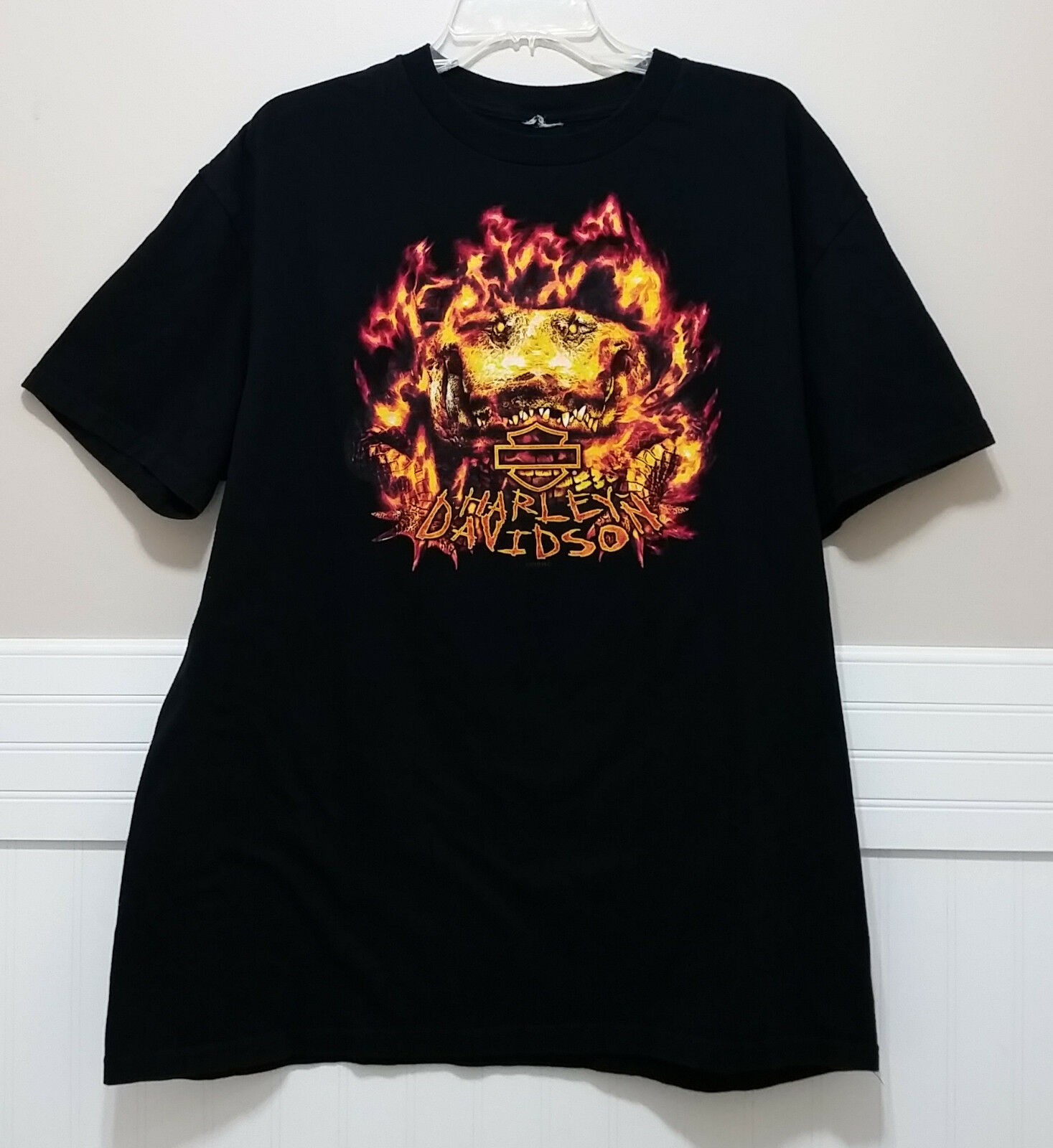 Primary image for Orlando HARLEY DAVIDSON Mens T Shirt XL Flamin Gator Front & Back Graphic HD Tee