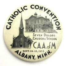 Vintage Albany Minnesota 1933 Catholic Convention Souvenir Button - $16.57