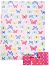 "Carter's 4-Piece Toddler Set, Pink/White Butterflies, 52"" x 28"" - $50.51"