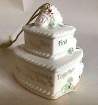 Lenox 2013 Our 1st Christmas Together Ornament Wedding Cake Anniversary Gift New - $16.95