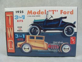 """AMT 1925 MODEL """"T"""" FORD 3 IN 1 CAR MODEL KIT NEW 1:25TH SCALE - $39.59"""