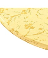 Miles Kimball Floral Swirl Vinyl Elasticized Table Cover, 40 - 44 Inch D... - $12.15