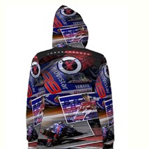 Jorge Lorenzo New Race MotoGP Hoodie Fullprint for women - $40.99+