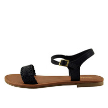 Soda Jazzy Black Women's Open Toe Braided Sandals - $18.95+