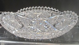 ABP Cut glass oval dish flashy for - $45.47