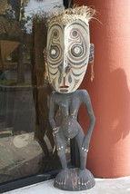 Rare Protective Hand carved Spirit Savi 5 Ft Statue Sepik Tiki Tambaran ... - $2,374.99