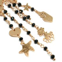 Drop Earrings 925 Silver, Starfish, Medusa, le Favole, Spinel Black image 3
