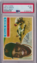 1956 Topps Willie Mays Gray Back #130 PSA 7 P637 - $660.86