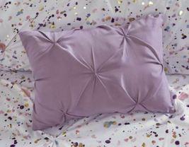 Intelligent Design Abby Metallic Printed and Pintucked Duvet Cover Set Plum Full image 9