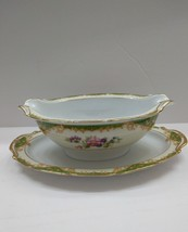 Amazon China By Noritake Gravy Boat With Attached Under Plate Vintage Mint - $33.65