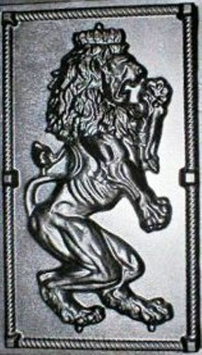 "Giant Mold 19""x34""x2"" Scottish Rampant Lion (Right Face) Wall Plaque, Fast Ship"