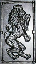 "Giant Mold 19""x34""x2"" Scottish Rampant Lion (Right Face) Wall Plaque, Fast Ship image 1"