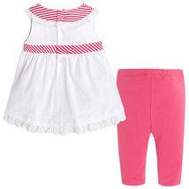 Mayoral Baby Girl 3M-24M RedWhite/Green Stripes-n-Floral Top/Legging Set image 2