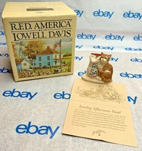"Lowell Davis ""Sunday Afternoon Treat"" Figurine 1989 Schmid Cat 223551 IOB - $34.63"
