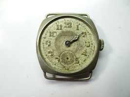 CHAUCER VINTAGE ELIDA CUSHION CASE 6 JEWEL WATCH FOR RESTORATION TRENCH ... - $111.27