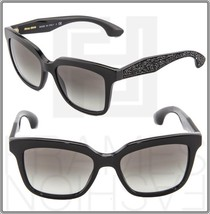 Miu Miu Crystal Rock Pave 09P Black Crystal Square Sunglasses Gradient MU09PS - $244.53