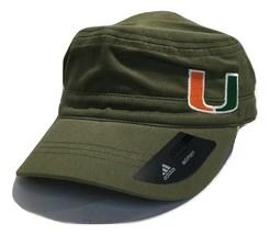 adidas NCAA Tulsa Miami Hurricane Army Green Military Hat, One Size Women's - $17.46