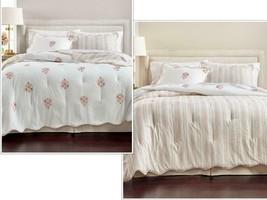 $400.00 Martha Stewart Embroidered Floret Reversible 8-Pc. Comforter Set... - $143.55
