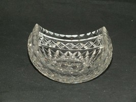 Vintage Clear Crystal Cut Glass Brilliant cut Hob Star Dish - $28.64