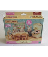 Calico Critters Dining Room Play Set Table 5 Chairs Tea Set Kitchen Oven 3+ - $9.99