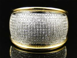 Mens Wedding Dom Engagement Diamond Ring Band 14k Gold Over 925 Sterling Silver - £87.51 GBP