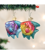 OLD WORLD CHRISTMAS SET OF 2 TROPICAL ANGELFISH CHRISTMAS ORNAMENTS 12383 - $21.88