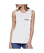 Lover Women's White Muscle Top Cute Simple Quote Round-neck Top - $14.99