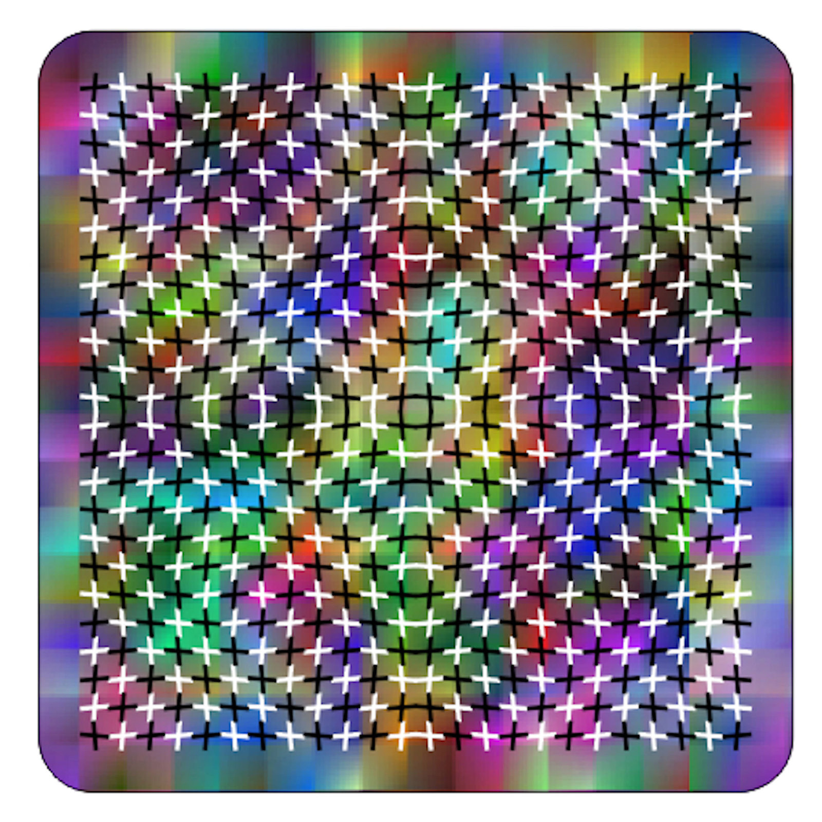 illusion coaster, made in uk drinks, plate  etc coaster stock code 17