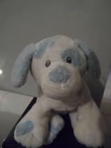 "2007 Ty Pluffies Tylux 9"" Long Puppy Dog-White/Blue Spots Plush Stuffed ... - $12.82"